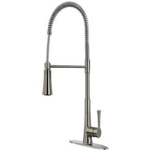 Price Pfister LG529-MCS Zuri Culinary Single Handle Professional Spring Spout Kitchen Faucet - Stainless