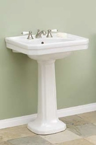 """Cheviot 511/20-WH-4 Mayfair Pedestal Lavatory Sink Single Hole 20"""" X 16"""" with 4"""" Faucet Hole - White"""
