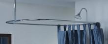 """Cheviot 3150/54-CH 24"""" X 54"""" Rectangular Shower Curtain Rod for Clawfoot Tub- Chrome"""