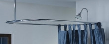 """Cheviot 3150/42-CH 24"""" X 42"""" Rectangular Shower Curtain Rod for Clawfoot Tub - Chrome"""