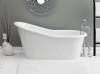 "Cheviot Dakota 2157w 61"" Cast Iron Bath Tub With Continuous Rolled Rim - White"
