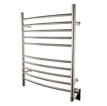 """Amba RWH-CB Radiant Hardwired Curved 31 1/2"""" H x 23 3/4"""" W Bathroom Towel Warmer - Brushed Stainless"""