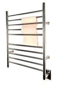 """Amba RWH-SP Radiant Hardwired Straight 31 1/2"""" H x  23 3/4"""" W Bathroom Towel Warmer - Polished Stainless"""