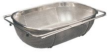 """Whitehaus WHNEXC01 13 1/2"""" Over The Sink Extendable Colander / Strainer - Stainless Steel"""