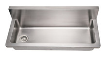 "Whitehaus WHNCMB4413 44"" Noah's Collection Commercial Utility Sink - Brushed Stainless Steel"