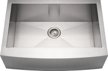 """Whitehaus WHNCMAP3021 30"""" Noah's Collection Commercial Single Bowl Apron Kitchen Sink with Arched Front - Brushed Stainless Steel"""