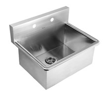 """Whitehaus WHNC2520 25"""" Noah's Collection Commercial Drop-in Laundry / Scrub Sink - Brushed Stainless Steel"""