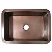 "Whitehaus WH3020COUM Copperhaus 30"" x 20"" Undermount Smooth Texture Kitchen Sink - Smooth Bronze"