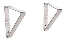 Whitehaus BRACKET4413 Wall Mount Brackets For Extra Support for Use With WhNCMB4413 - Brushed Stainless Steel
