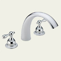 Delta T2783-LHP Two Handle Roman Tub Faucet -  Chrome