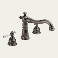 Delta T2755-PTLHP Two Handle Roman Tub Faucet -  Aged Pewter