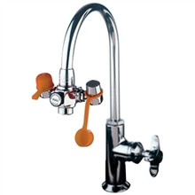 """Guardian G1100 EyeSafe Faucet-Mounted Eyewash Station w/ 3"""" Outlet Heads"""