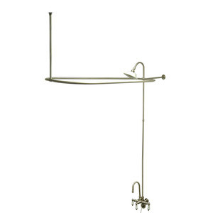 Kingston Brass Clawfoot Tub High Rise Faucet With Shower Riser