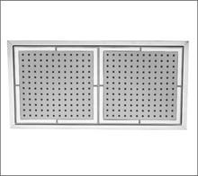 Aquabrass 802PC 8'' X 16'' Ceiling Mount Recessed Shower Tile Showerhead - Chrome