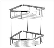 Aquabrass 2067PC Two Tier Triangle Shower / Tub Basket - Chrome