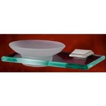 Alno A7930-SN Geometric Soap Dish Holder on Glass Shelf - Brushed Nickel