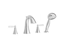 Price Pfister LG6-4GLC Two Handle Roman Tub Faucet With Handshower Trim Kit - Chrome