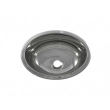 "Opella 17135.045 13"" x 10 1/2"" Oval Bar Sink - Undermount Or Drop-In - Polished Stainless"