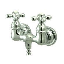 "Kingston Brass 3-3/8"" Wall Mount Clawfoot Tub Filler Faucet - Polished Chrome CC38T1"