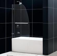 """DreamLine AQUA UNO 34"""" x 58"""" Single Panel Hinged Tub Door - Chrome Trim - SHDR-3534586"""