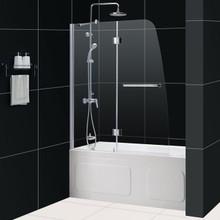 "DreamLine AQUA 48"" x 58"" Clear Glass Bathtub Door - Chrome - SHDR-3148586"