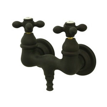 "Kingston Brass 3-3/8"" Wall Mount Clawfoot Tub Filler Faucet - Oil Rubbed Bronze CC37T5"
