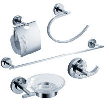 Fresca Alzato FAC0800 5-Piece Bathroom Accessory Set - Chrome