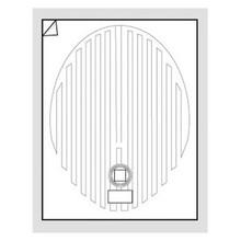 """WarmlyYours FFM-1826OV Oval 18"""" x 26"""" Mirror Defogger"""