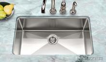 """Houzer Nouvelle NOG-4150 Undermount Gourmet Single Bowl 31-1/8"""" x 18"""" Kitchen Sink - Stainless Steel"""