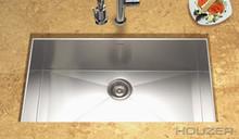 "Houzer Contempo CTG-3200 Zero Radius Undermount 32"" x 18"" Large Single Bowl - Stainless Steel"