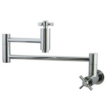 Kingston Brass Wall Mounted Pot Filler Faucet - Polished Chrome