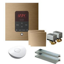 Mr. Steam MSBUTLER2SQ-BB Butler Package with (2) iTempo Pro Square Programmable Control for Steam Bath Generator - Brushed Bronze