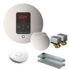 Mr. Steam MSBUTLER2RD-PN Butler Package with (2) iTempo Pro Round Programmable Control for Steam Bath Generator - Polished Nickel