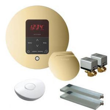 Mr. Steam MSBUTLER2RD-PB Butler Package with (2) iTempo Pro Round Programmable Control for Steam Bath Generator - Polished Brass
