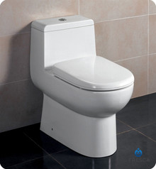 Fresca FTL2351 One-Piece Dual Flush Toilet W/ Soft Close Seat  - Ceramic