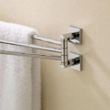 "Valsan Braga 67670ES 17 5/16"" Adjustable Swivel Arm Towel Bar - Rack - Satin Nickel"