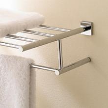 "Valsan Braga 676632ES 23 5/8"" Towel Bar  & Shelf  - Satin Nickel"