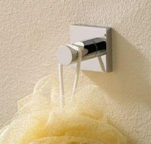 Valsan Braga 67611CR Bathroom Robe Hook - Chrome