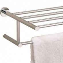 "Valsan Porto 675632NI 23 5/8"" Towel Bar & Shelf - Polished Nickel"