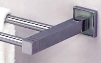 "Valsan Cubis Plus 67476CR 24 1/2"" Double Towel Rail - Bar - Chrome"