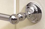 "Valsan Kingston 66345PV 19 1/2"" Towel Rail - Bar - Polished Brass"