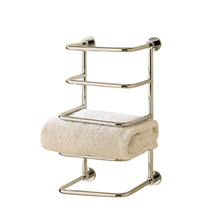 Valsan Essentials 57203CR 4-Tier Towel Rack-Shelf-Wall Mounted-Chrome
