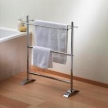 Valsan VDS 53519CR Freestanding Small Double Towel Holder - Chrome