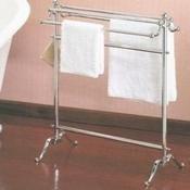 Valsan VDS 53515NI Freestanding Double Towel Holder - Polished Nickel