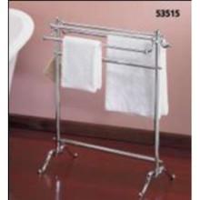 Valsan VDS 53515ES Freestanding Double Towel Holder - Satin Nickel