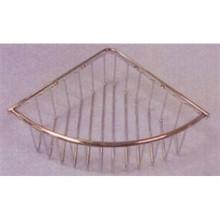 Valsan Essentials 53434ES Large Deep Corner Soap Basket - Wall Mounted - Satin Nickel