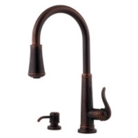 Price Pfister Ashfield GT529-YPU One Handle Kitchen Faucet with Pullout Spray & Soap Dispenser-Rustic Bronze