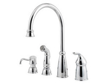 Price Pfister GT26-4CBS One Handle Kitchen Faucet w/Side Spray & Soap Dispenser - Stainless Steel