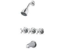 Price Pfister LG01-8CPC Three Handle Tub & Shower Faucet-Chrome