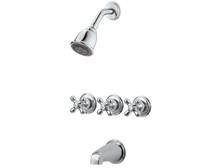 Price Pfister LG01-8CBC Three Handle Tub & Shower Trim Only - Chrome
